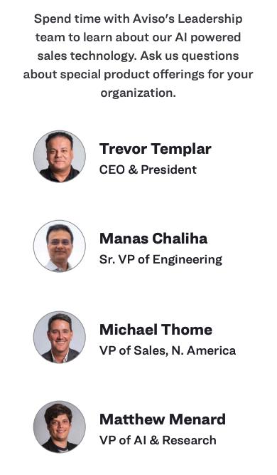 Meet Aviso's Leadership Team